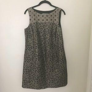 Tibi Metallic Jacquard Cheetah Print Mini Dress